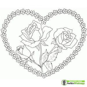 dibujos de rosas para imprimir y colorear
