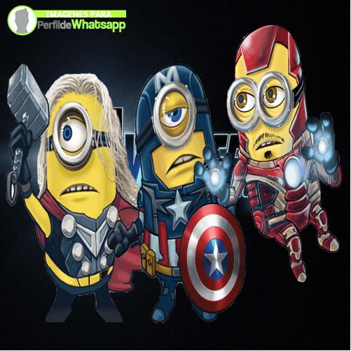 imagenes de minions de avengers thor y capitan america