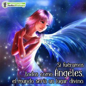 imágenes de ángeles bonitos con frases para compartir