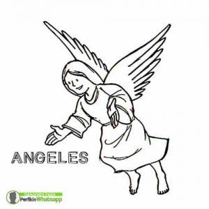 imágenes de ángeles de Dios para colorear