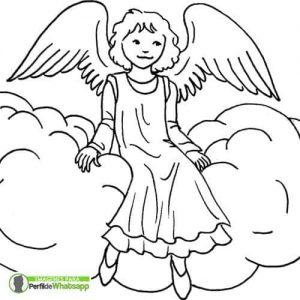 imagenes de angeles para colorear e imprimir