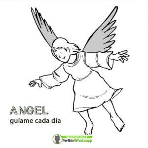 imagenes de angeles tiernos con frase para colorear