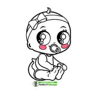 imagenes-de-bebes-niñas-para-imprimir-y-colorear